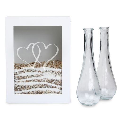 Cathy's Concepts 3-piece Two Hearts Sand Ceremony Shadowbox Set