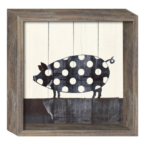 Polka Dot Pig Wall Decor