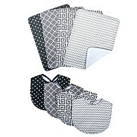 Trend Lab 8-pc. Printed Bib & Burp Cloth Set