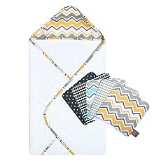Trend Lab 6-pc. Printed Hooded Towel & Washcloth Set by
