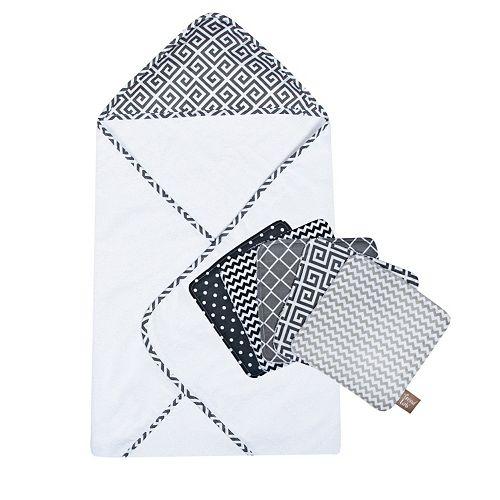Trend Lab 6-pc. Printed Hooded Towel & Washcloth Set