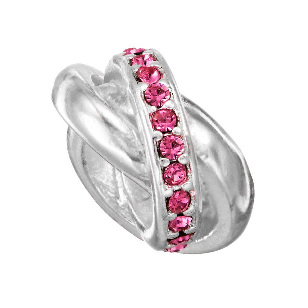 Individuality Beads Crystal Love Knot Bead