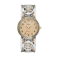 Vivani Women's Two Tone Interlocking Circle Cuff Watch