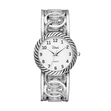 Vivani Women's Interlocking Circle Cuff Watch