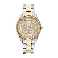 Vivani Women's Crystal Two Tone Watch