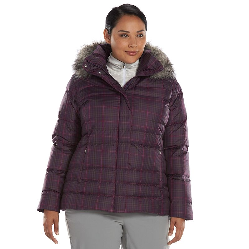 Plus Size Columbia Mercury Maven Hooded Down Puffer Jacket