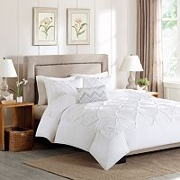 Madison Park Julia 4 pc Percale Duvet Cover Set
