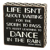 ''Dance In Rain'' Wooden Box Sign Art