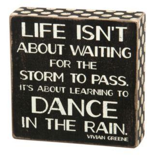 ''Dance In Rain'' Wooden Box Sign Art