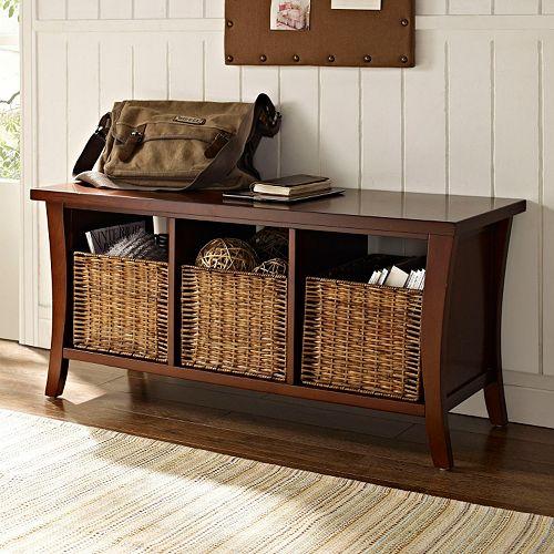 Crosley Furniture Wallis Entryway Storage Bench