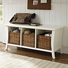 Crosley Furniture Wallis Entryway Storage Bench