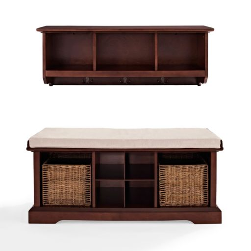 Crosley Furniture 2-piece Brennan Entryway Bench and Shelf Set
