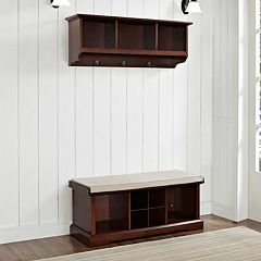 Crosley Furniture 2 pc Brennan Entryway Bench & Shelf Set