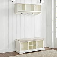 Crosley Furniture 2-piece Brennan Entryway Bench & Shelf Set
