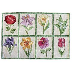 Park B. Smith Floral Tiles Tapestry 4 pc Placemat Set
