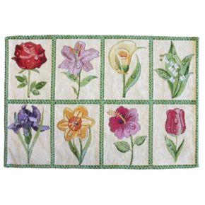 Park B. Smith Floral Tiles Tapestry 4-pc. Placemat Set