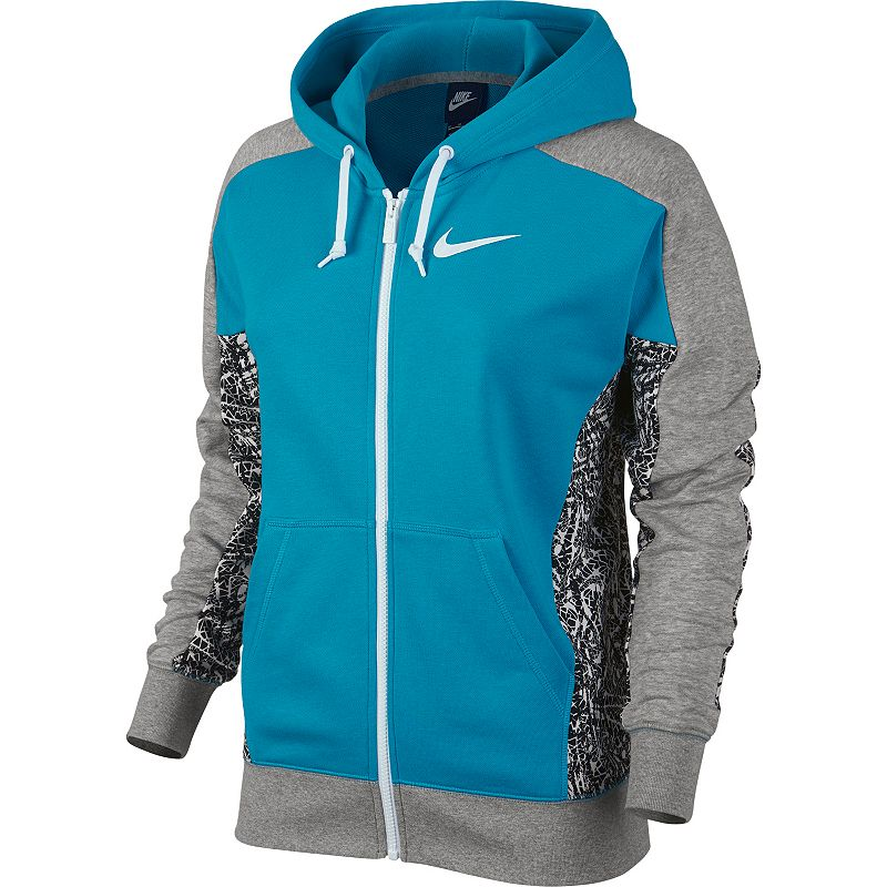 Nike Club Printed French Terry Full-Zip Hoodie - Women's