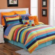 Fiesta Stripe Reversible Comforter Set