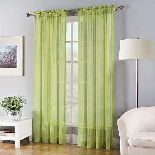 Fiesta 1-Panel Solid Sheer Window Curtain