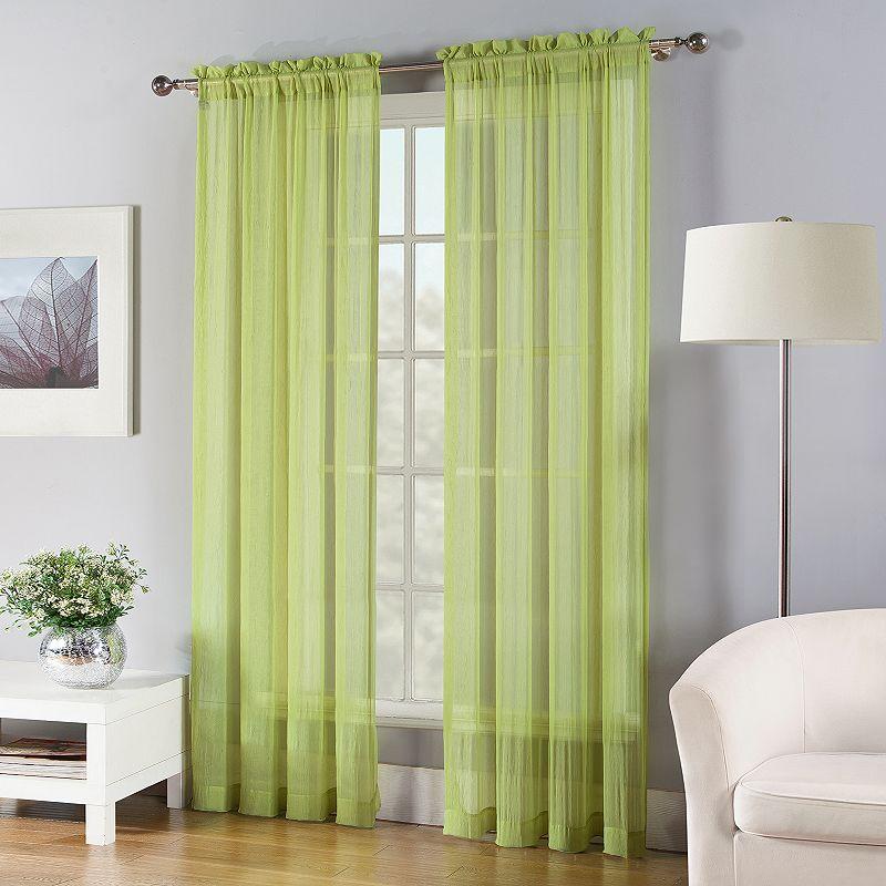 Fiesta Solid Sheer Curtain