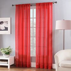 Fiesta 1-Panel Solid Sheer Window Curtain