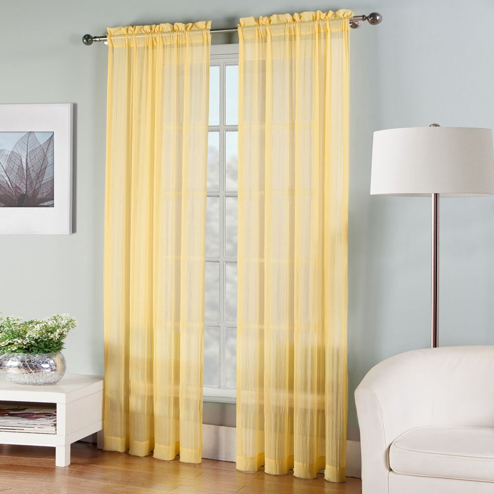 solid sheer curtain