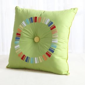 Fiesta Embroidered Circle Throw Pillow