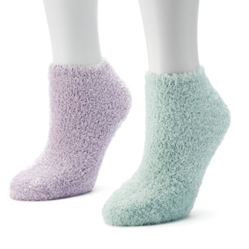 Dr. Scholl's 2-pk. Low-Cut Spa Slipper Socks - Women