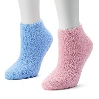 Dr. Scholl's 2 pkLow-Cut Spa Slipper Socks - Women
