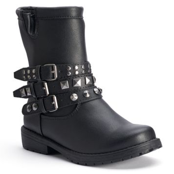 Mudd® Girls' Studded Moto Ankle Boots