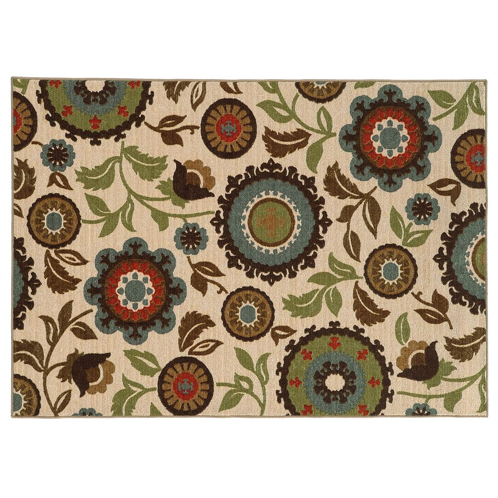 StyleHaven Ariel Ivory Floral Rug