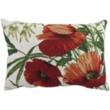 "Park B. Smith Poppies 12"" x 18"" Throw Pillow"