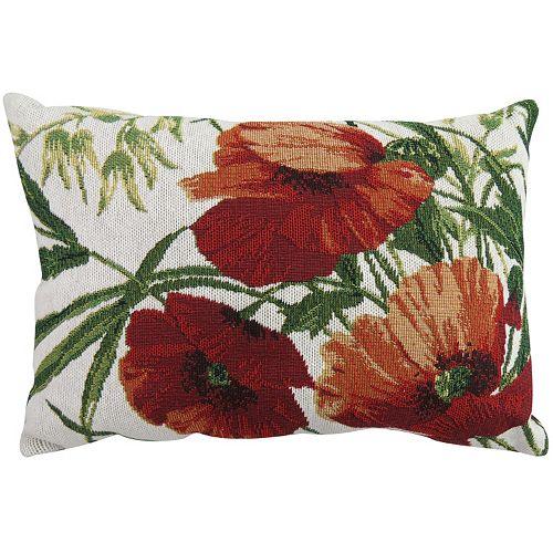 """Park B. Smith Poppies 12"""" x 18"""" Throw Pillow"""