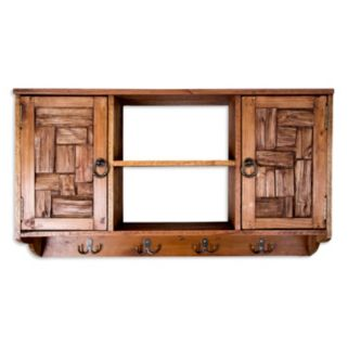 Home Essentials 4-Hook Wall Cabinet