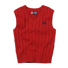 Chaps Classic Cable Sweater Vest - Toddler