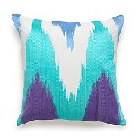 Amy Sia Painterly Embroidered Throw Pillow
