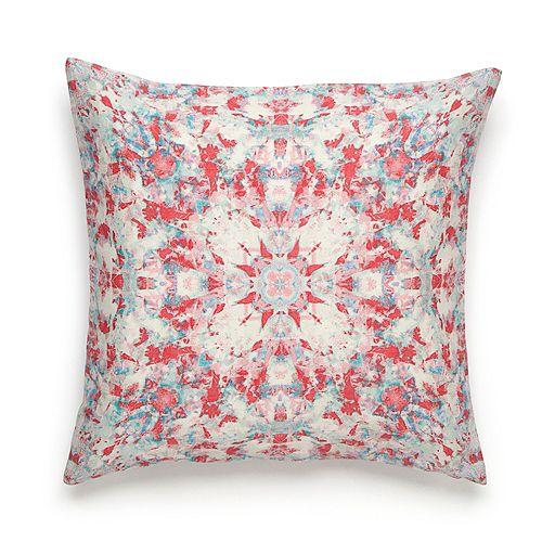 Amy Sia Painterly Kaleidoscope Throw Pillow
