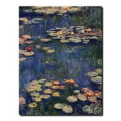 'Water Lilies' Canvas Wall Art by Claude Monet
