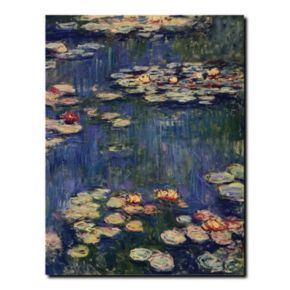 """""""Water Lilies"""" Canvas Wall Art by Claude Monet"""