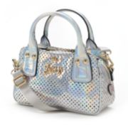 Juicy Couture Perforated Iridescent Mini Convertible Satchel