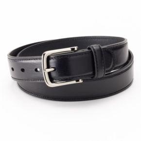 Dockers® Drop-Edge Stitched Black Leather Belt - Men