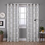 Exclusive Home 2-pack Kochi Linen Blend Grommet Top Window Curtains