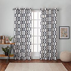 Exclusive Home 2 Pack Kochi Linen Blend Grommet Top Window Curtains