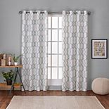 Exclusive Home 2-pack Kochi Linen Blend Grommet Top Window Curtains