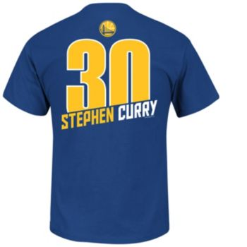 Majestic Golden State Warriors Stephen Curry Record Holder Player Name and Number Tee - Men