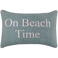 Park B. Smith ''On Beach Time'' Oblong Throw Pillow