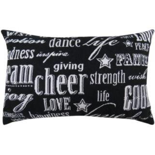 Park B. Smith ''Cheer'' Black Throw Pillow
