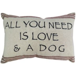 Park B. Smith ''Love and Dog'' Throw Pillow