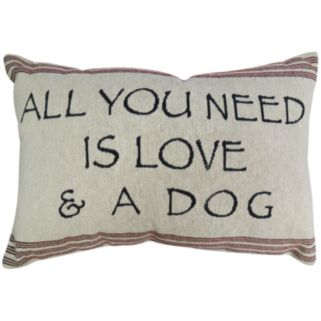 Park B. Smith ''Love and Dog'' Throw Pillow