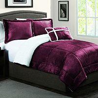 Micromink & Sherpa Down-Alternative Reversible Comforter Set